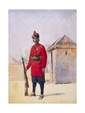 Soldier of the 22nd Punjabis Awan of Shahpur, Illustration for 'Armies of India' by Major G.F.… Giclee Print by Alfred Crowdy Lovett