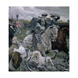 Peter II (1715-30) and the Tsarevna Elizabeth (1709-62) Hunting, 1900 Giclee Print by Valentin Aleksandrovich Serov