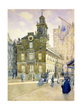 The State House from Park Street, Boston Giclee Print by James Kinsella