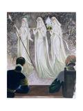 The Dazzling Procession of the Holy Grail, an Illustration for 'Sir Lancelot of the Lake', by… Giclee Print by Janet and Anne Johnstone
