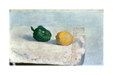 Pepper and Lemon on a White Tablecloth, 1901 Giclee Print by Odilon Redon