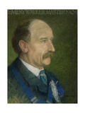 Emery Walker, Master of the Art Workers' Guild in 1904 Giclee Print by Thomas Robert Way
