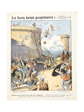 Geese Save the Roman Capitol from Gaulish Invaders, from 'Le Bon Sens Populaire', c.1900 Giclee Print by Alexandre Grellet