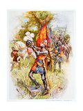 Edward the Black Prince at the Battle of Crecy in 1346, Illustration from 'stories of Royal… Giclee Print by Joseph Finnemore