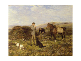 Grouse Shooting, 1901 Giclee Print by Heywood Hardy