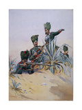 Soldiers of the 125th Napier's Rifles, Illustration from 'Armies of India' by Major G.F. MacMunn,… Giclee Print by Alfred Crowdy Lovett