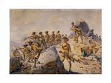 Soldiers of the 4th Gurkha Rifles, Illustration for 'Armies of India' by Major G.F. MacMunn,… Giclee Print by Alfred Crowdy Lovett
