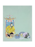 The Emperor and Aladdin's Mother, from 'Aladdin' Giclee Print by Janet and Anne Johnstone