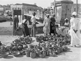 Pottery Sellers, Barbados, 1908-09 Photographic Print by Harry Hamilton Johnston