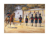 Soldiers of the 10th Duke of Cambridge's Own Lancers (Hodson's Horse), 'The Quarter Guard',… Giclee Print by Alfred Crowdy Lovett
