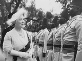 The Queen Mother Inspects the Police Guard of Honour at Noarok, East Africa, February 1959 Photographic Print by Charles Trotter