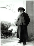 Auguste Rodin (1840-1917) in the Garden of His House 'Les Brillants' in Meudon Photographic Print by  Dornac