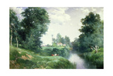 A Long Island River, 1908 Giclee Print by Thomas Moran