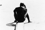 Shirtless Seated Man at Coney Island, Untitled 32, c.1953-64 Photographic Print by Nat Herz