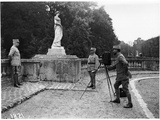 General Petain (1856-1951) Being Photographed at Chateau de Compiegne, 1918 Photographic Print by Jacques Moreau