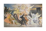 The Apotheosis of the Poet, a Homage to Victor Hugo (1802-85) for the Celeb Giclee Print by Georges Meunier