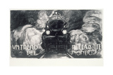 A Train in the Night of the World Giclee Print by Aroldo Bonzagni