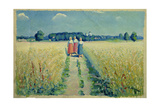 Three Women on a Road, 1900 Giclee Print by Kasimir Malevich
