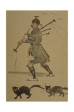 Highlander Playing Bagpipes, 1900 Giclee PrintJoseph Crawhall