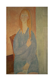Girl in a Blue Dress Giclee Print by Amedeo Modigliani