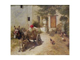 Farm Yard Scene, 1905 Giclee Print by Henry Herbert La Thangue