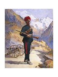 Gunner of the Mountain Battery, Punjabi Musalman, Illustration for 'Armies  Giclee Print by Alfred Crowdy Lovett