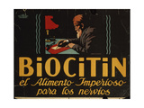 Spanish Advertisement for 'Biocitin' Nerve Medicine, 1908 Giclee Print by Hans Lindenstaedt