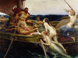 Ulysses and the Sirens, 1909 Giclee Print by Herbert James Draper