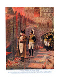 Napoleon Watching the Fire of Moscow, Illustration from 'Hutchinsons History of the Nations',… Giclée-Druck von Nikolai Stepanovich Vereshchagin