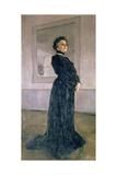 Portrait of Maria Nikolayevna Yermolova (1853-1928) 1905 Giclee Print by Valentin Aleksandrovich Serov
