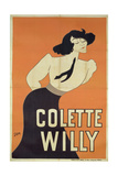 Poster Depicting Colette Willy (1873-1954) Giclee Print by  Sem