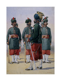 Soldiers of the 127th Queen Mary's Own Baluch Light Infantry, Illustration for 'Armies of India'… Giclee Print by Alfred Crowdy Lovett