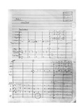 Score Sheet of Act 1 of 'Pelleas and Melisande', 1902 Giclee Print by Claude Debussy
