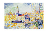 The Harbour at St. Tropez, c.1905 Gicléetryck av Paul Signac