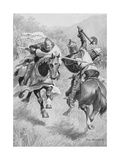 Encounter Between Robert Bruce (1274-1329) and Sir Henry de Bohun (1276-1322) Illustration from… Giclee Print by Ambrose de Walton