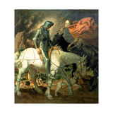 Don Quixote with Death, Based on 'The Knight, Death and the Devil' by Albrecht Durer (1471-1528),… Lámina giclée por Theodor Baierl