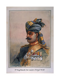 Head and Shoulders Portrait of Risaldar, Durrani, Illustration for 'Armies of India', by Major… Giclee Print by Alfred Crowdy Lovett