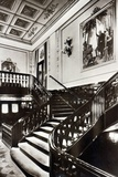 Grand Staircase Onboard the HMS Homeric Photographic Print by  English Photographer