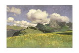 A Field of Marigolds, Lower Alps, 1902 Giclee Print by Adrian Scott Stokes