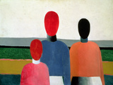 Three Female Figures, 1928-32 Reproduction procédé giclée par Kasimir Malevich
