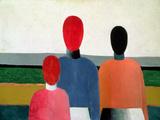 Three Female Figures, 1928-32 Giclée-tryk af Kasimir Malevich