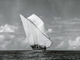 An Arab Dhow, Old Mombasa Harbour, Kenya, 5th April 1952 Fotografie-Druck von Charles Trotter