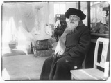 Auguste Rodin (1840-1917) in His House 'Les Brillants' in Meudon Photographic Print by  Dornac