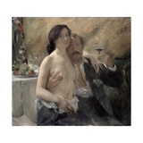 Self Portrait with His Wife and a Sekt Glass, 1902 Giclee Print by Lovis Corinth
