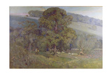 Moonlight in the Cotswolds, 1903 Giclee Print by Sir Alfred East