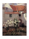 Madonna Lilies Giclee Print by Norman Garstin