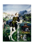 Illustration for the Cover of 'Finding Out, Shakespeare's World', Published by Purnell and Sons… Giclee Print by Janet and Anne Johnstone