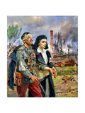 Wounded Soldier, 1915 Giclee Print by Wojciech Kossak