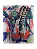 Animals under Trees Giclee Print by Franz Marc