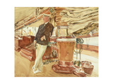 Captain Herbert M. Sears on Deck of the Schooner Yacht Constellation, 1924 Giclee Print by John Singer Sargent